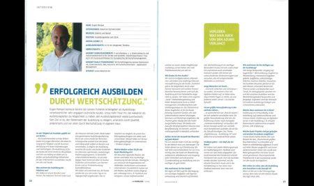 """""""Erfolgreich Ausbilden durch Wertschätzung"""" Interview von unserem Trainer Eugen Rempel:"""